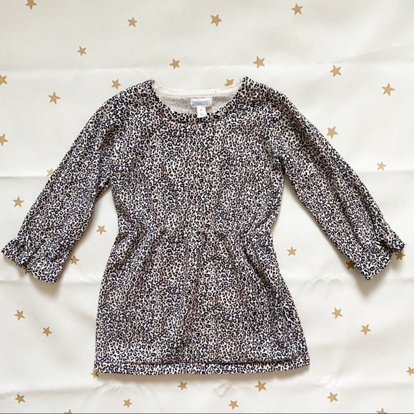 Gymboree Leopard Print Long Sleeve Dress